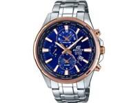 CasioMens Edifice World Time Silver Steel Watch