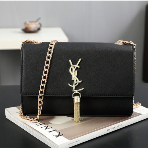 Women Fashion Large Tassels Shoulder Bag Leather Crossbody H