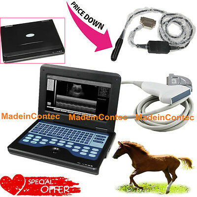 Veterinary Portable Ultrasound Scanner Machin Cowhorseanimal Rectalconvex Use