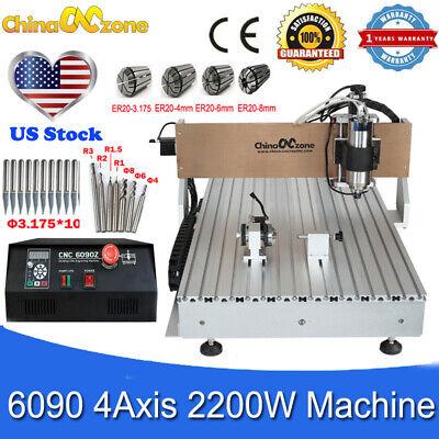 Cnc 6090 4axis 2200w Router Machine Mini Cnc Cutting Engraver Machine Usb Port