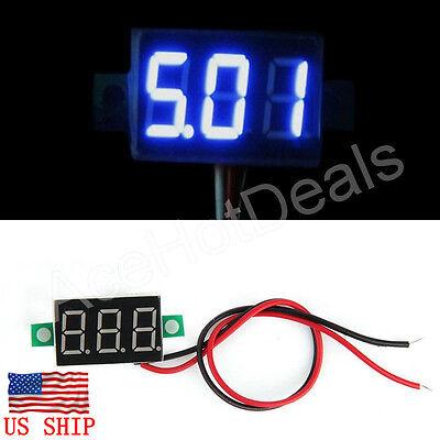 Mini Blue Dc 0-30v Led Display Digital Voltage Voltmeter Panel For Arduino