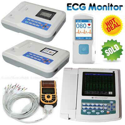 Us Seller Fda Ecg Machine Ekg Monitor Portable Lcd Electrocardiographprinter