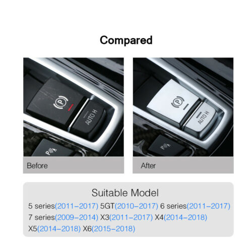 Car Electronic Handbrake AUTO H Button Cover For BMW 7 Series F01 F07 2009-2015