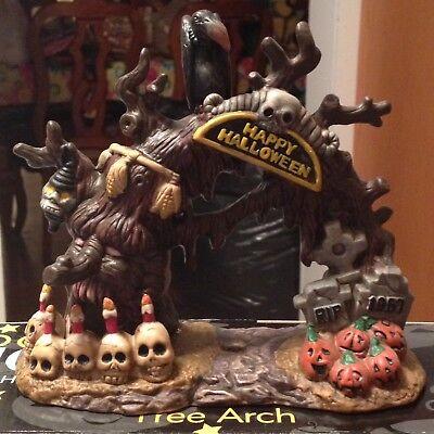SPOOKY HOLLOW Spooky Tree Arch Halloween House Accessory Decor Brand New Retired - Spooky Tree Halloween Decor