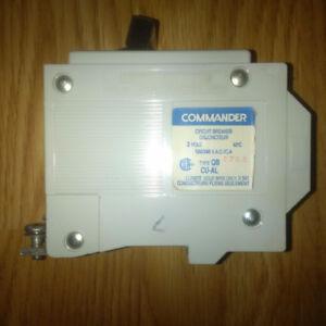 QB style 2 pole 20 amp circuit breaker