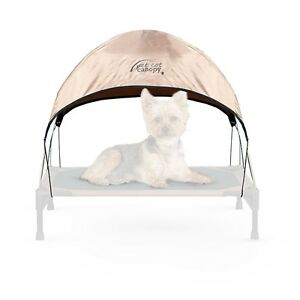 "K&H Manufacturing 17 by 22"" Pet Cot Canopy, Small, Tan"