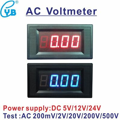 Ac Voltage Meter Led Digital Voltmeter Ac 200mv 2v 20v 200v 500v Power Volt Dc5v