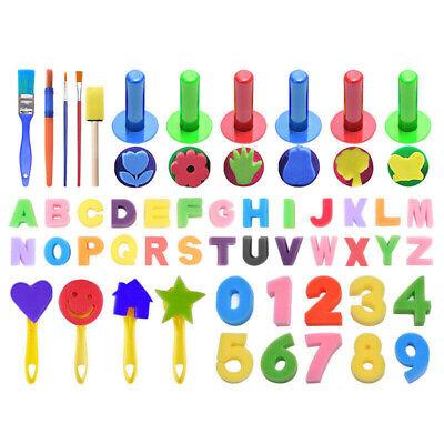 51/18x Kids Painting Brushes Sponges Paint Apron Brush Set for Children Toddler