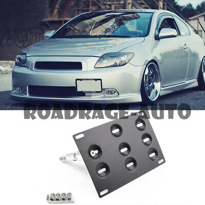 Bumper Tow Hook Hole Cover License Plate Bracket Mount Holder For 05-10 Scion tC