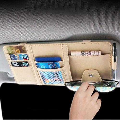 Car Sun Visor Organizer Interior Pocket Pen Card Change Glas