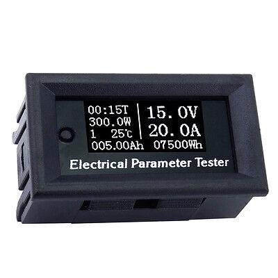 Multi-function Oled Dc Voltage Current Time Power Watt Tester Digital Meter