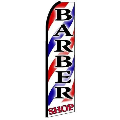 Barber Shop Swooper Half Curve Advertising Premium Wide Flag