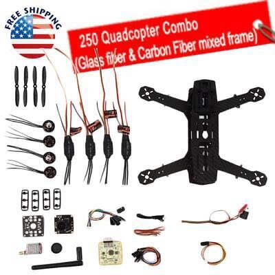 OCDAY Carbon 250 FPV Quadcopter Drone Kit Unassembled w/ AV Transmitter Wl
