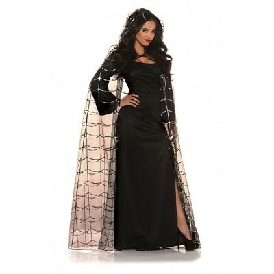 Underwraps Spider Cape Hood Medieval Gothic Adult Womens Halloween Costume 28534