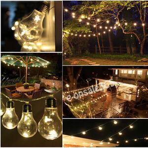 Vintage Retro 2.5M Indoor Outdoor Globe String Lights Clear Edison Bulb LED Lamp