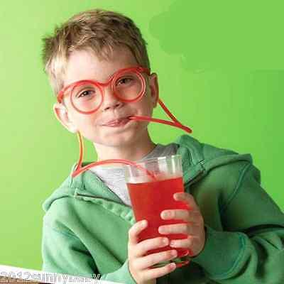 Funny Child Toys Soft Glasses Straw Drinking Eyeglasses Tube Party Decorations (Drinking Eyeglasses)