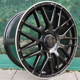 "19"" Staggered AMC Hex wheels for Mercedes C-CLass 5x112 Etc"