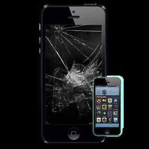 apple iphone 5 5c 5s Broken Glass and LCD Repair Cheaper
