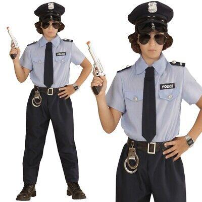 POLIZEI KOSTÜM für Jungen blau Polizist Cop Police Boy Kinder Karneval Fasching