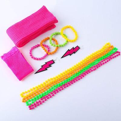 80s Accessories Women Girl 80s Fancy Dress Outfit Costume Neon Earrings Leg - 80s Girl Outfit