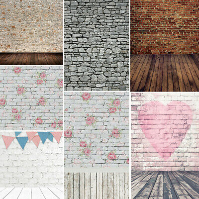 Brick Wall Background (Vintage Brick Wall Wooden Floor Portrait Photo Background Photographic)