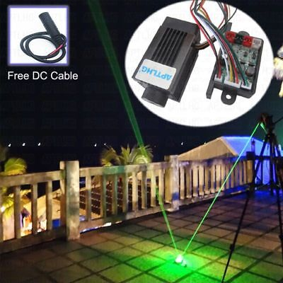 Focusable 200mw 532nm Green Laser Module Diode Stage Lighting Long Duty 12v Ttl