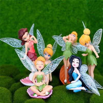 garden decor - 6Pcs Flower Pixie Fairy Miniature Figurine Dollhouse Garden Ornament Yard Decor