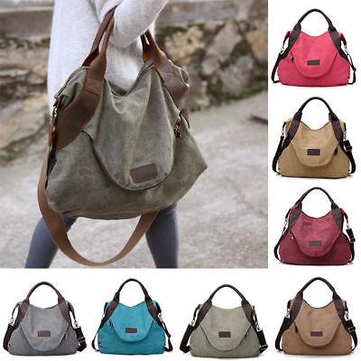 Frauen-Segeltuch-Handtaschen-Schulter-Beutel-große Taschen-Geldbeutel-Reise-Kuri