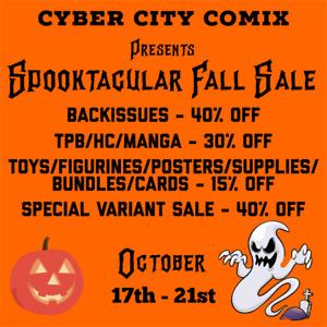 Spooktacular Fall Sale. Comics, TPBS, Manga, Toys & more.