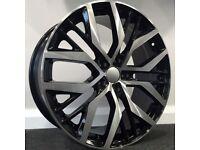 "18"" Santiago Style Alloys & Tyres. Suit Audi A3,Volkswagen Caddy,Golf,Jetta, Passat, Seat Leon 5x112"
