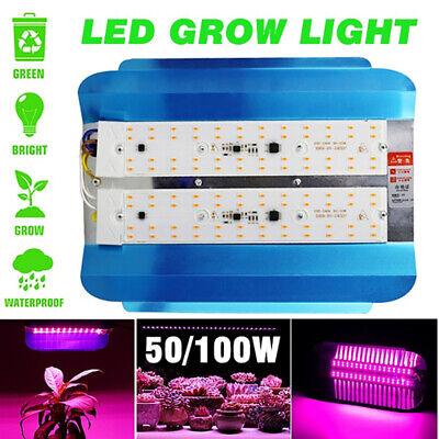 Vollspektrum 50W 100W LED Grow Light Hydroponic Veg Pflanzen Lampe Wachsen Licht