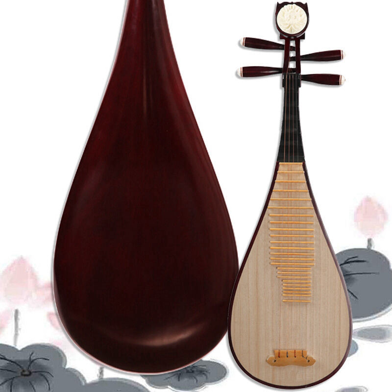 Luet Liuqin Chinese Soprano Pipa Lute Guitar Musical Instrument Yue Hai #4110