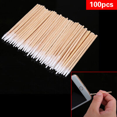 100Pcs/lot Cotton Stick Clean Tool for iphone Samsung Charge Port &Earphone Jack