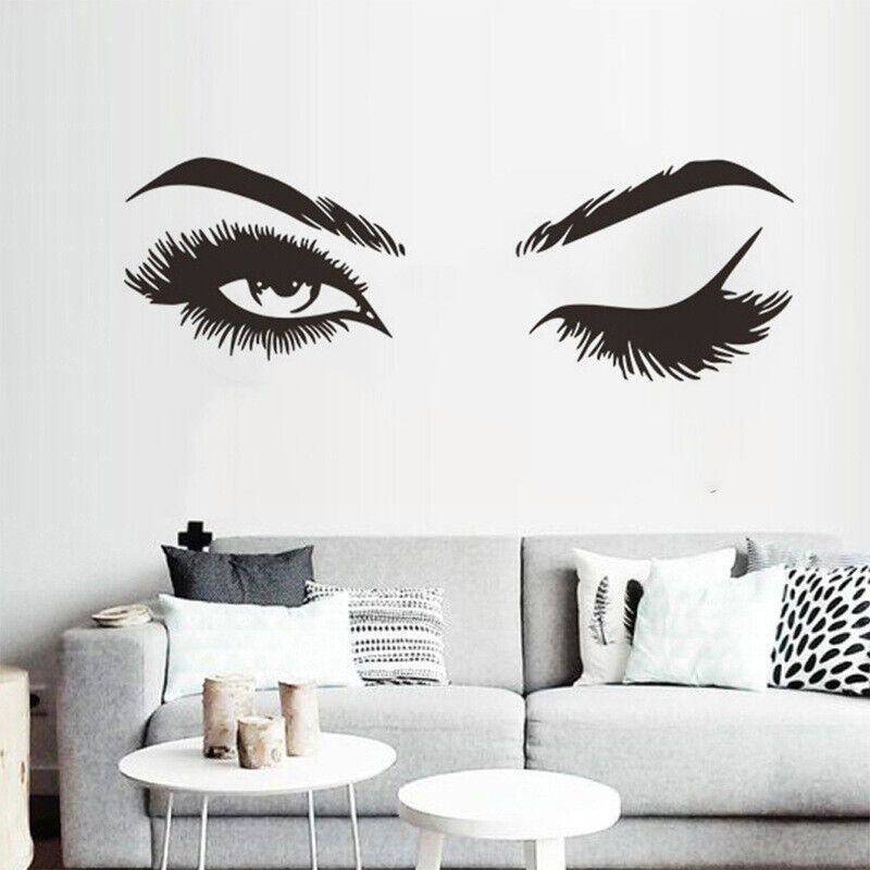 Home Decoration - Eye Wink Mural Wall Sticker DIY Art Decal Eyelashes Wall Sticker Home Decoration