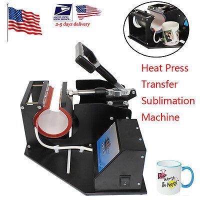 Cup Coffee Mug Heat Press Transfer Sublimation Machine Digital Displayus Ship