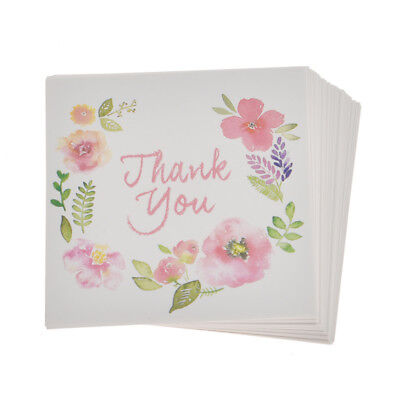 50 Pcs THANK YOU Flowers Paper Card Rewards Gift Bouquet for Wedding Party Decor