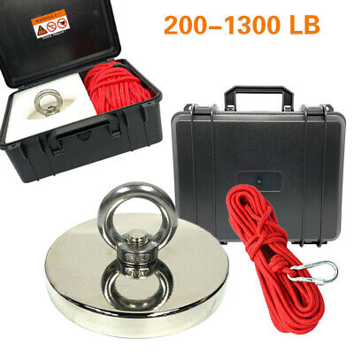 Fishing Magnet Kit Up To 1300 Lb Pull Force Super Strong Neodymiumropeabs Case
