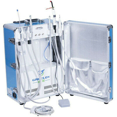 Greeloy 600w Dental Delivery Unit With Air Compressor All In One 4 Hole Gu-p206