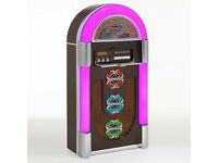 £499 NEW BLUETOOTH JUKEBOX CD, RADIO, SD CARD, COLOUR CHANGING LIGHTS