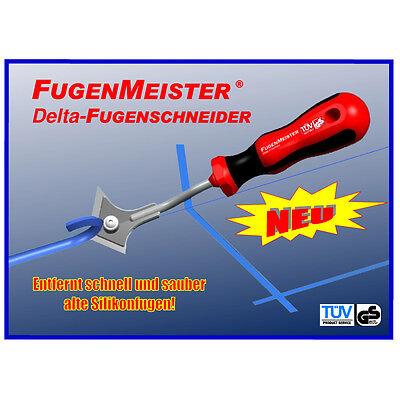Silikon Fugenentferner Fugenmeister Fugenschneider, Fugenmesser, 6 Ersatzklingen