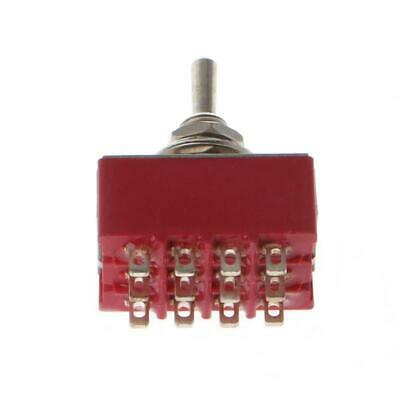 Ac 250v2a 125v5a 12-pin Onon 2 Position 4pdt Mini Toggle Switch Red