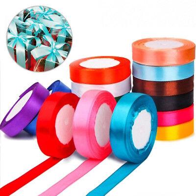 25 Yards Silk Satin Ribbon Wedding Party Decor Wrapping Xmas Apparel*Sewing 20mm