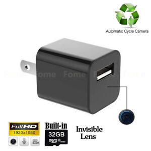 Hidden Camera Charger, FOME 1080P HD USB Wall AC Plug Charger Sp