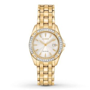 Eco-Drive Women's 'Silhouette' Quartz Stainless Steel Casual Wat