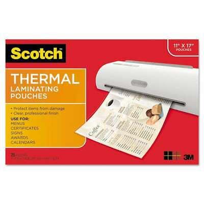 Scotch Menu Size Thermal Laminating Pouches 3 Mil 17 12 X 11 051141921211