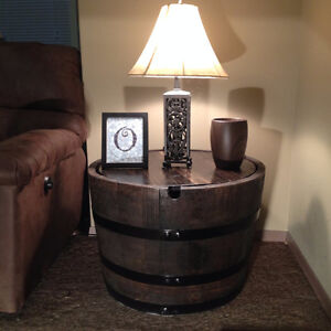 OAK WINE BARREL COFFEE TABLE, END TABLES, WINE RACK Peterborough Peterborough Area image 9