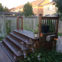 Deck elevation stairs