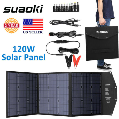 SUAOKI 120W Foldable Solar Panel Battery Power Bank For Phon