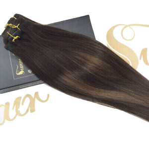 Brown Balayage Clip in Hair Extensions 7pcs