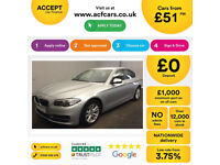 Silver BMW 520 2.0TD Auto 2015 d SE FROM £51 PER WEEK!
